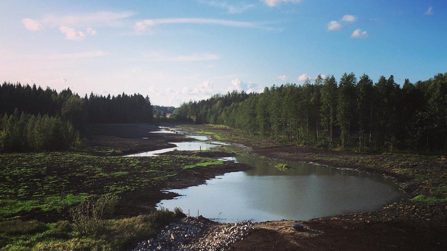 kaunis kosteikko Kaivinkoneurakointi Lönnqvist oy