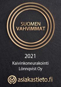 Suomen vahvimmant 2021 Kaivinkoneurakointi Lönnqvist oy